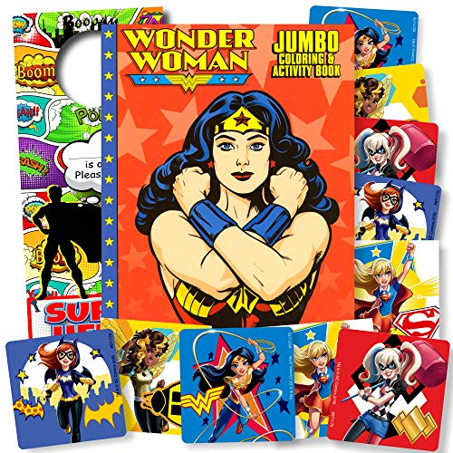 Wonder Woman Coloring Book with Superhero Girls Stickers
