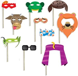 Passover 10 Plagues of Egypt Photobooth Prop masks for Pesach Seder