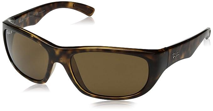 06c282e21b4 Ray-Ban Women s Gradient RB4177-710 57-58 Brown Rectangle Sunglasses ...