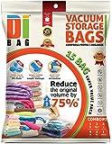 DIBAG ® 15 Bags Pack Vacuum Compressed Storage Space Saver Bags. 4 pcs 57 x 45cm+4 pcs 85 x 54cm+3 pcs 90 x 70cm+2 pc 60 x 50cm+1 pc 100 x 67cm+1 roll up vacuum 34 x 50 cm