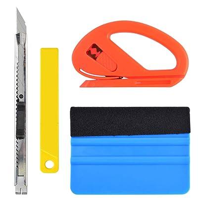Miayon Vehicle Vinyl Film Tool Kit, 4PCS Vinyl Wrapping Window Tint Tools for Car Wrapping 1 Set: Automotive