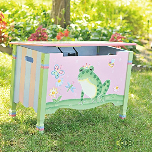 Garden Magic (Fantasy Fields - Magic Garden Thematic Kids Wooden Toy Chest with Safety Hinges | Imagination Inspiring Hand Crafted & Hand Painted Details   Non-Toxic, Lead Free Water-based Paint)