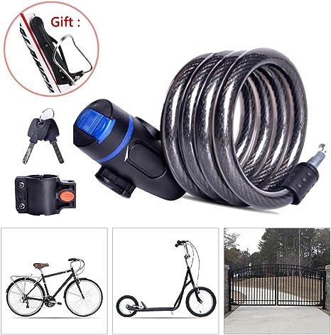 LieYuSport Candado Bici,Impermeable Cadena Bici Alta Seguridad con ...