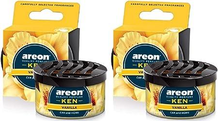 Areon Ken Lufterfrischer Vanille Auto Duft Autoduft Wohnung Dose Duftdose Erfrischer 3d Set Vanilla Pack X 2 Auto