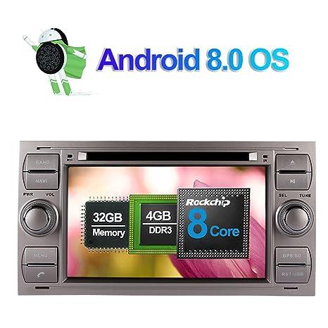 7 pulgadas Android 8.0 Octa Core 4GB RAM Radio estéreo del coche para Ford Focus/