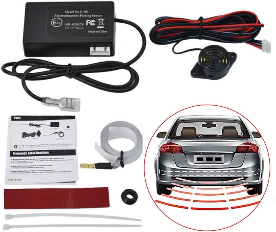 Kit di parcheggio elettromagnetico per Auto con sensore Radar di retromarcia per Camion per Auto Sensore di parcheggio con Allarme di retromarcia Radar a induzione elettromagnetica Universale