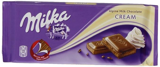 Milka Chocolate Creme Bar 100 G Pack Of 20
