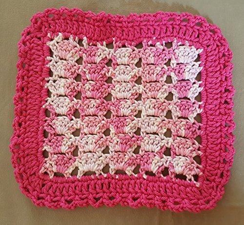 Amazoncom Pink Variegated Crochet Dishcloth Crocheted Washcloths
