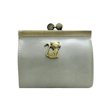 Carteras Para mujer Vovotrade Mini bolso retro de la moneda del monedero de las mujeres (Gris): Amazon.es: Equipaje