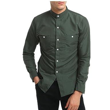 Amazon.com: iHPH7 - Blusa de manga larga para hombre, estilo ...