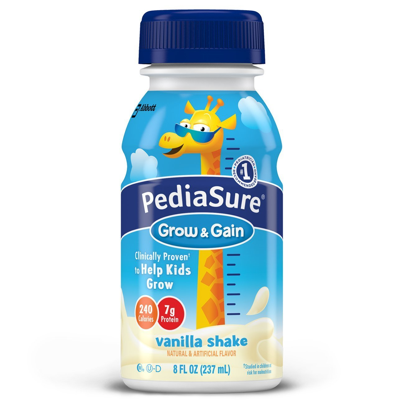 PediaSure Grow & Gain Nutrition Shake For Kids, Vanilla, 8 fl oz (Pack of 6)