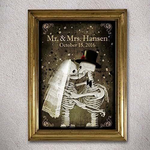 Halloween Wedding Gift Ideas: Amazon.com: Skeletons Wedding Poster,Personalized,Custom
