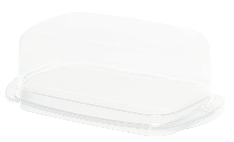 Sundis Rotho 7097001 Polypropylene Fresh Butter Dish 18 x 9.5 x 6.5 cm Transparent/White KitchenCenter 1709701100