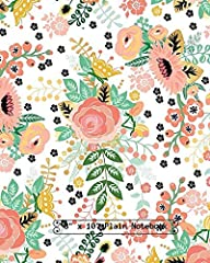 """Note Book Notetaking and Journaling etc Large 8""""x10"""" (21.59 x 27.94cm)  100 Plain pages acid- free, pure white thick (55Ib) paper to minimize ink bleed Suitable for Personal Use or as a Gift for Friends and Loved ones  Choose from a variety ..."""
