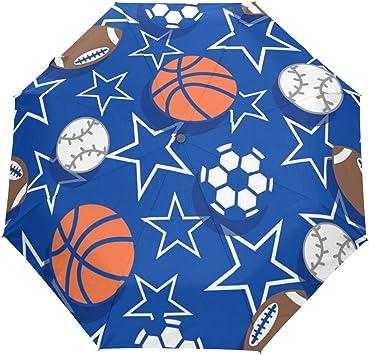 Custom Basketballs Compact Travel Windproof Rainproof Foldable Umbrella