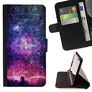 - Space - - Monedero PU titular de la tarjeta de cr?dito de cuero cubierta de la caja de la bolsa FOR Sony Xperia Z2 D6502 Retro Candy