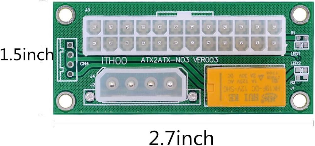 Carte de d/émarreur double alimentation 24 broches Module dalimentation synchrone pour module de d/émarreur synchrone C/âble dextension de c/âble Extension 4 broches deux sources dalimentation