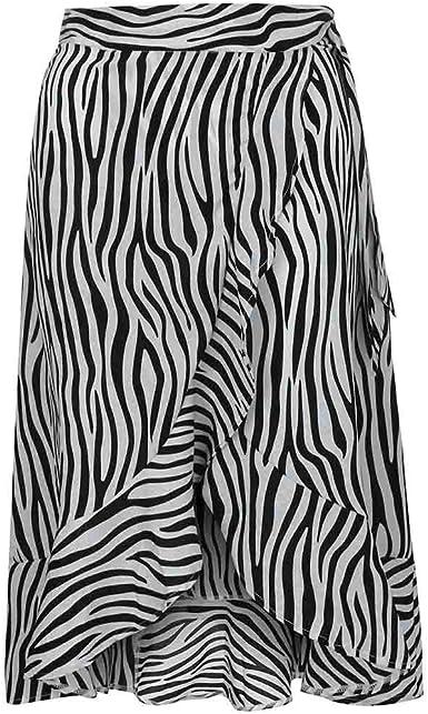 HCFKJ Faldas Mujer Cortas Moda para Mujer Cebra con Estampado De ...