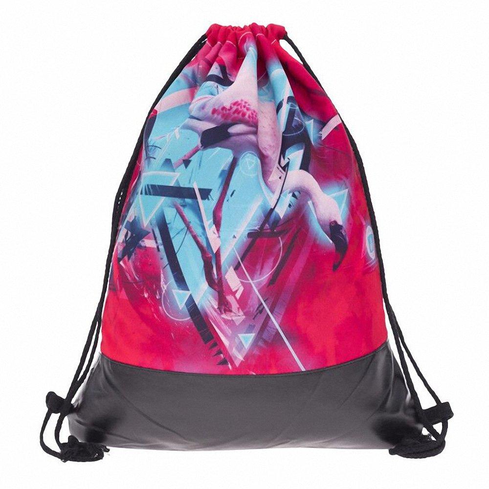 Amazon.com | Flamingos Leather Bottom Backpack Women Mochilas Mujer Bolsa PU Drawstring Bags Bagpack School Bags Travel Bag | Drawstring Bags