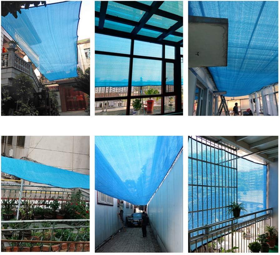 HLMBQ Malla Sombreo Azul Malla Ocultaci/ón Bloqueador Solar Malla Red Resistente a UV jard/ín Planta balc/ón Cubiertas de Techo Coches Patio Piscina 2 x 2M