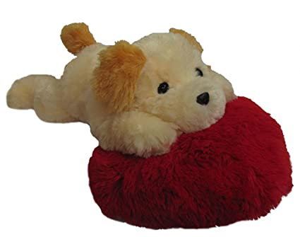 Tickles Cute Dog on Heart Pillow Stuffed Soft Plush Toy Kids Birthday 52 cm