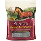 Manna Pro Weight Accelerator for Senior Horses|Made with Omega 3 Fatty Acids from Flaxseed|8 Pounds