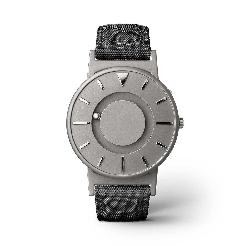 eone BRADLEY CLASSIC Unisex Uhr - Leder- Stoff Armband noir