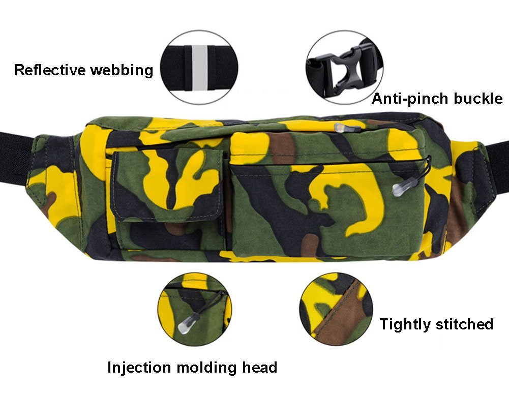 Sima Palace Waist Bag Waterproof Belt Pouch,Hip Belt Pouch for Outdoors Running Camping Trekking Hiking
