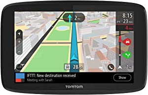 TomTom Go Supreme 5-Inch GPS Navigation Device with Traffic Congestion and Speed Cam Alerts Thanks to TomTom Traffic, World Maps, Updates Via WiFi, Handsfree Calling, Click-And-Drive Mount