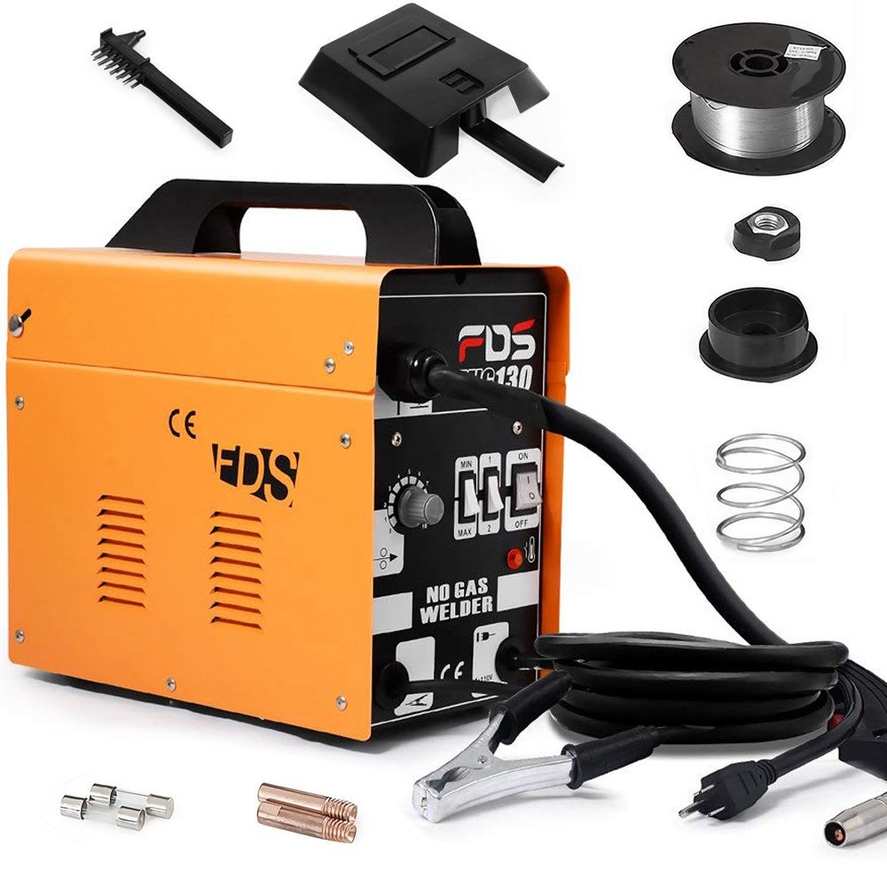 MIG 130 Welder Flux Core Wire Automatic Feed Welding Machine w/Free Mask by Goplus: Amazon.es: Bricolaje y herramientas