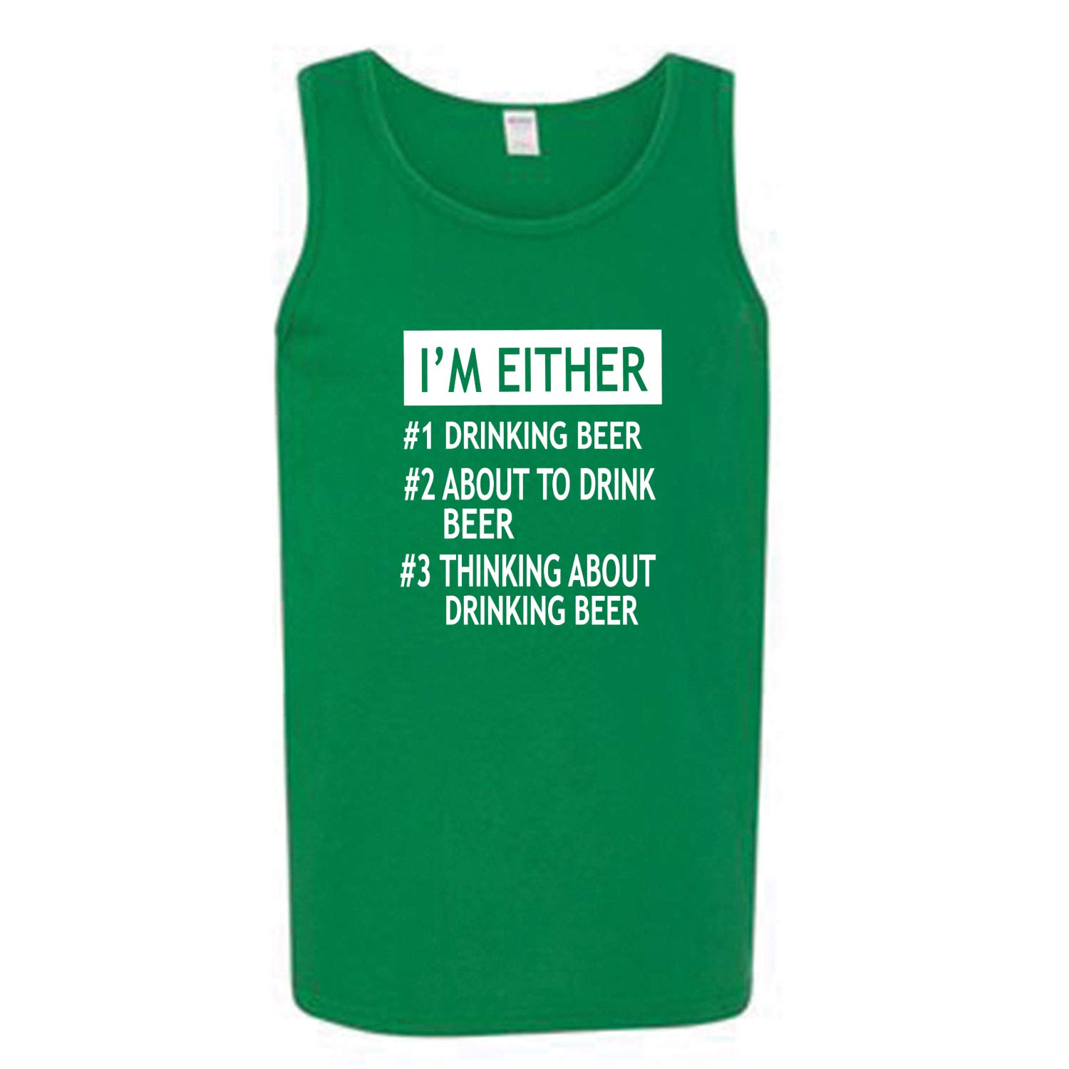 Im Either #1 Drinking Beer #2 About to Drink Beer #3 Thinking About Drinking Beer Drinking Mens Graphic Tank Top