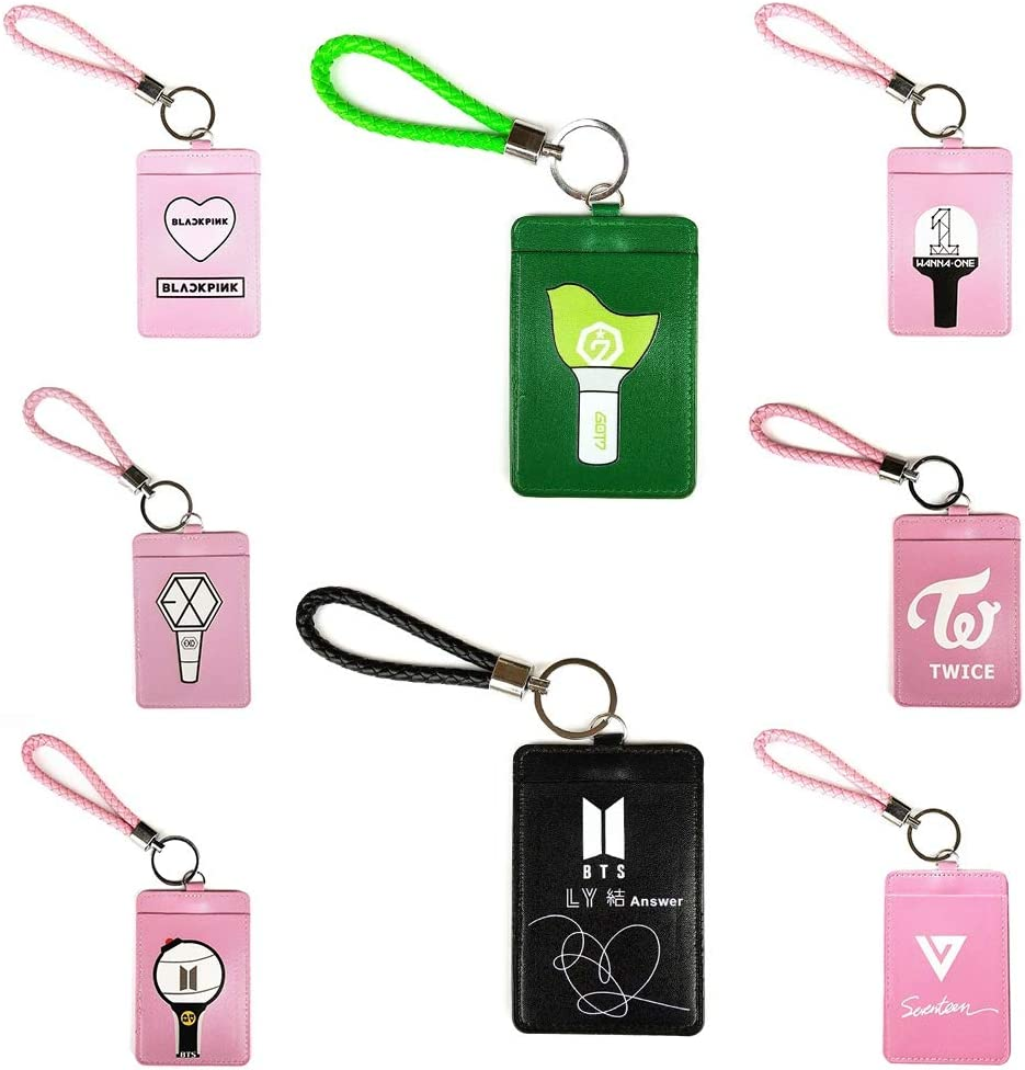 Chour /& Euhk Kpop BTS Exo Blackpink Got7/carte Housse en cuir PU carte de stockage Petite carte support Hot Cadeau arm/ée