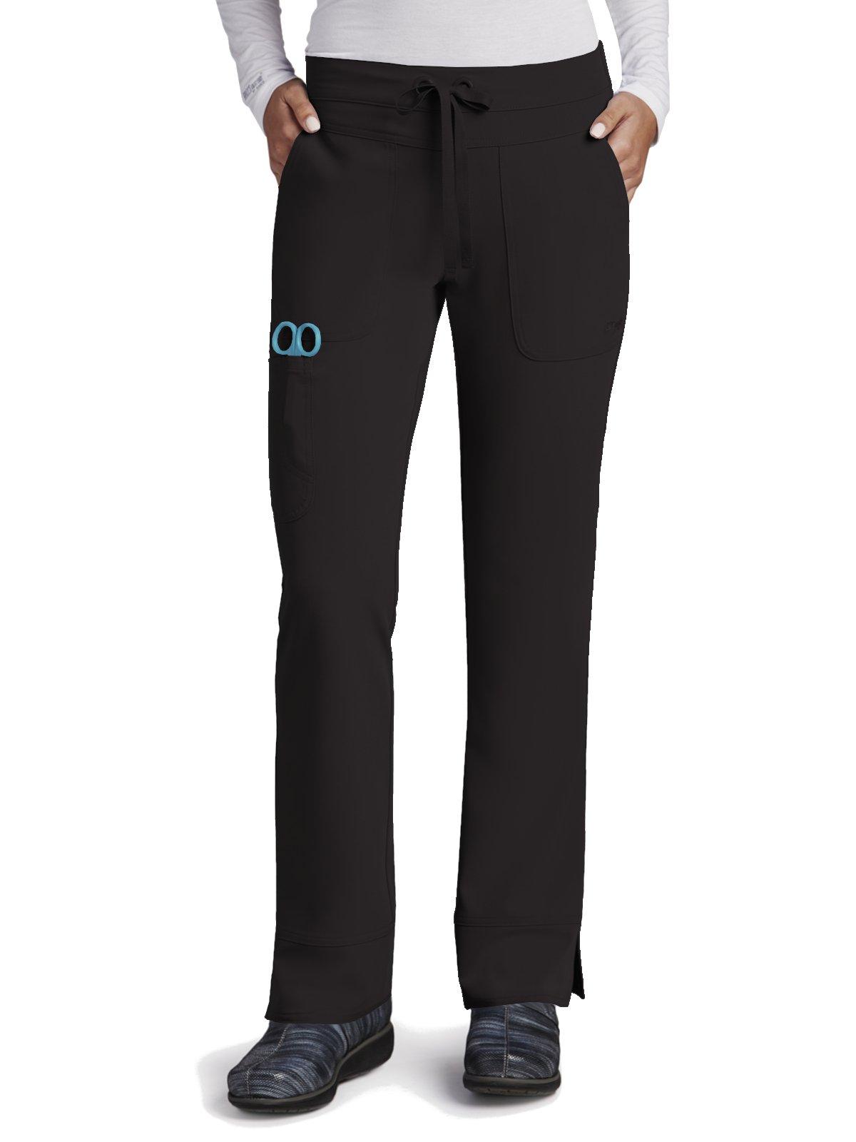 Grey's Anatomy Signature Women's 3 Pocket Low Rise Scrub Pant, Black, Large