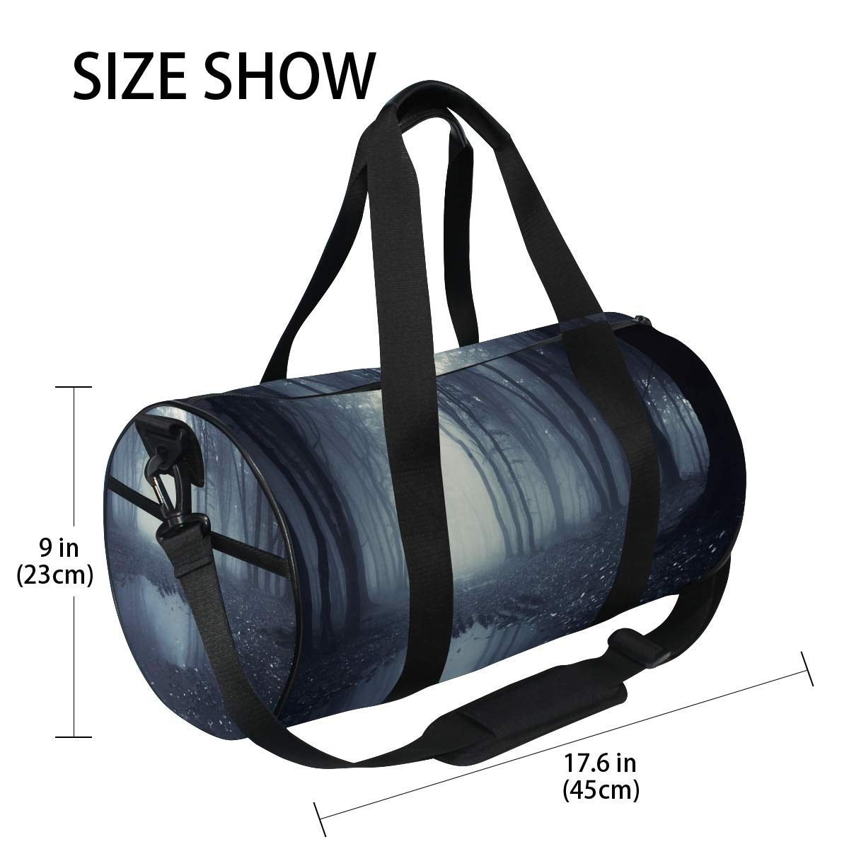 Sports Gym Bag Travel Duffel Bag with Pockets Luggage & Travel Gear Shoulder Strap Fitness Bag by EVERUI (Image #4)