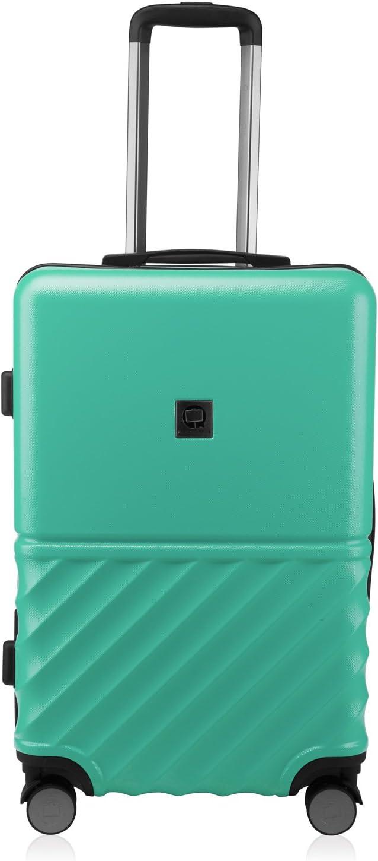 Boxi 4 roulettes Double Coque Rigide Legere ABS Set de 2 valises de Cabine Bagage a Main 55 cm TSA Argent HAUPTSTADTKOFFER