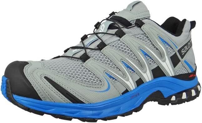 SalomonXA PRO 3D - Zapatillas de Running para Asfalto Hombre, Light Onix Bright Blue Dark Cloud, 40: Amazon.es: Zapatos y complementos