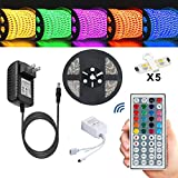 Amazon Price History for:Led Strip,TOPMAX 5050 16.4ft/5m RGB Led Strips Lighting Kit,Led Strip Lights+12V 3A Charger Power Supply(built-in IC and fuse)+44 Key Remote