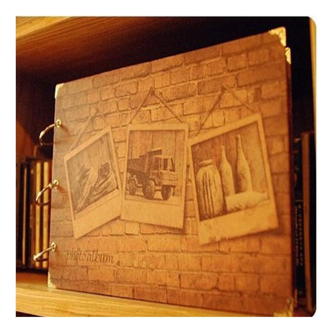 ZHAOXIANGXIANG 10-Pulgadas DIY Parejas Retro Patrón Pared Parejas DIY Álbum Bebé Photo Album Desmalezado Regalos De Cumpleaños Memory Photo Gallery f981a4