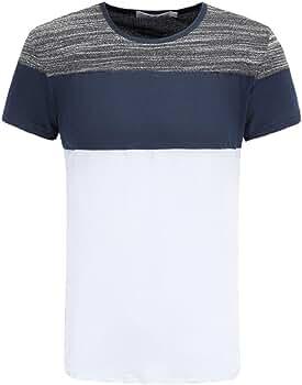 Camiseta para Hombre, Hombre Camiseta De Manga Corta Escote Redondo Camiseta de Algodón Estilo: Amazon.es: Ropa y accesorios