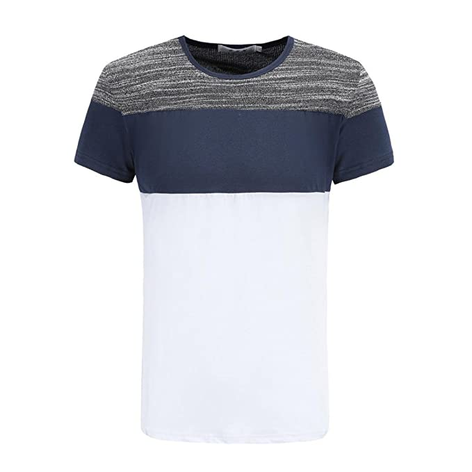 Camiseta para Hombre, Hombre Camiseta De Manga Corta Escote Redondo Camiseta de Algodón Estilo