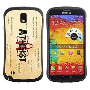Hybrid Anti-Shock Bumper Case for Samsung Galaxy Note 3 / Atheist Message
