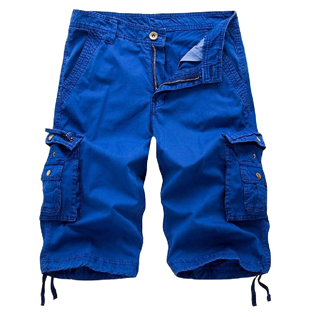 Joe Wenko Mens Workout Multi Pocket Sport Casual Ripstop Breathable Shorts
