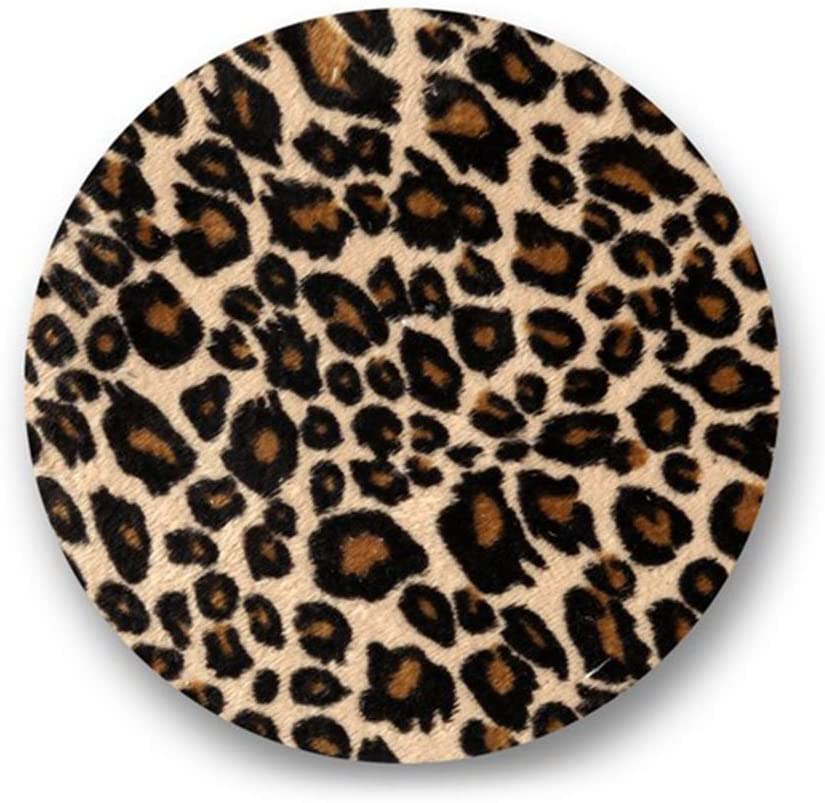 Qlychee 3Pcs Iron On Sew On Patches Leopard Print Rectangle
