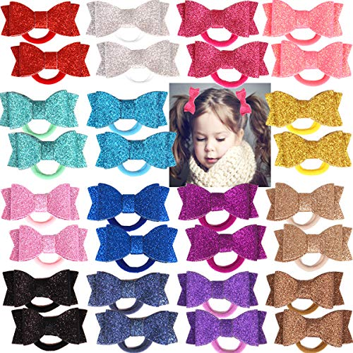 30Pcs Baby Girls Boutique Bling Sparkly Sequins 2.75