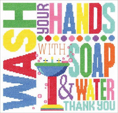 Janlynn Cross Stitch Kit Wash Your Hands -  Spectrum Crafts Janlynn, JLN182.405