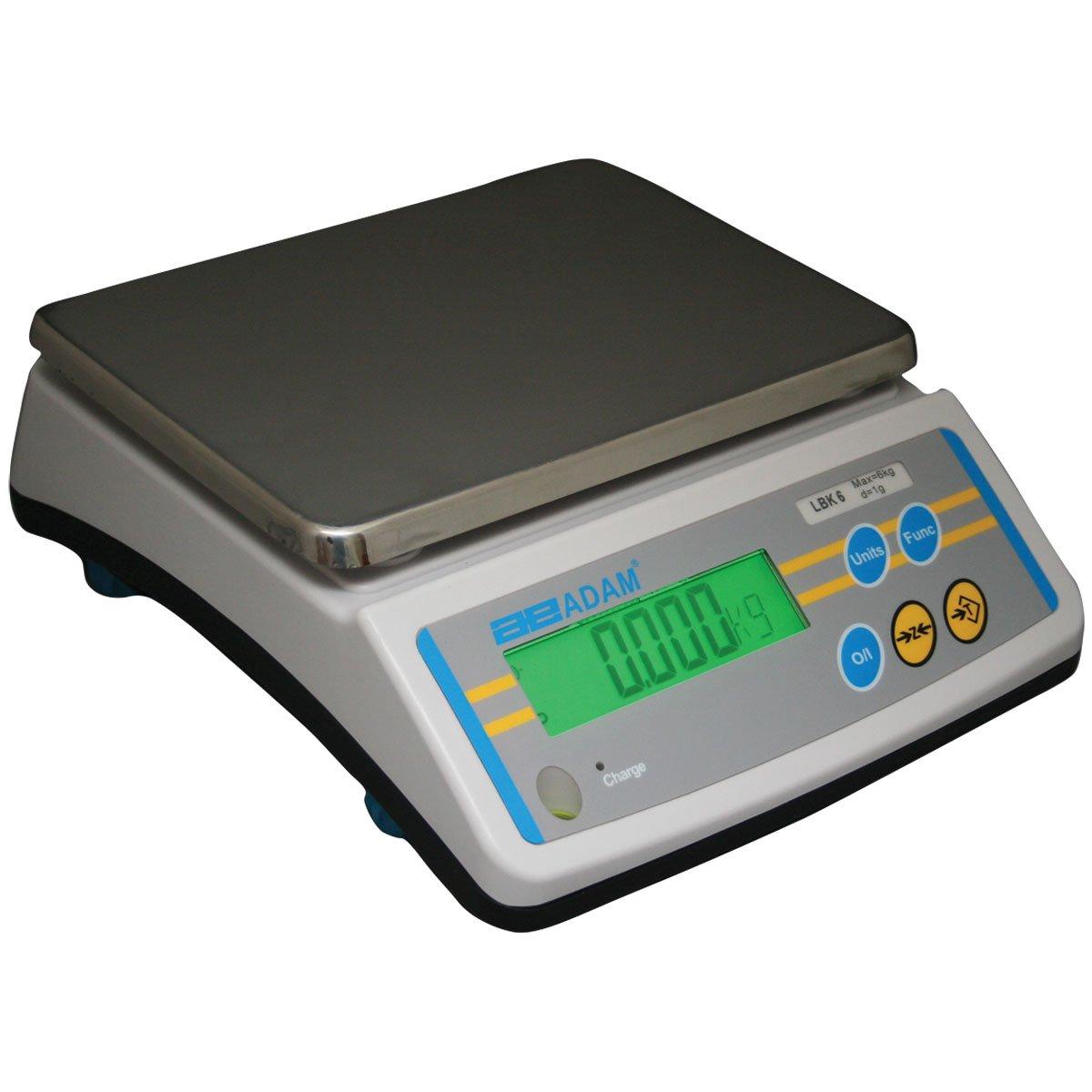 Adam Equipment LBK 6a Compact Bench Scale, 6lb/3000g Capacity, 0.001lb/0.5g Readability