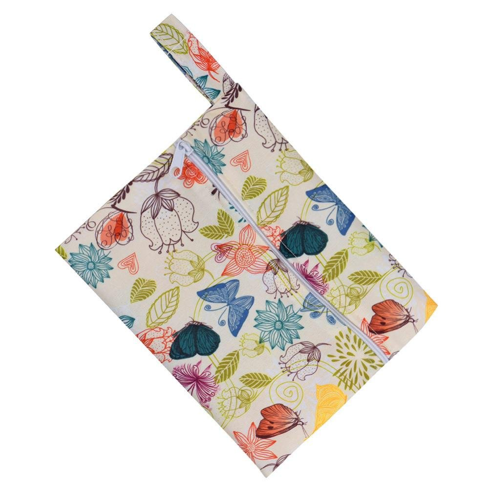 Sikye Mini Washable Wet Bag for Sanitary Napkin Maternity Mama Pads Sanitary Towel Bag - 10 Colors,7.2 × 5.6inch (A)