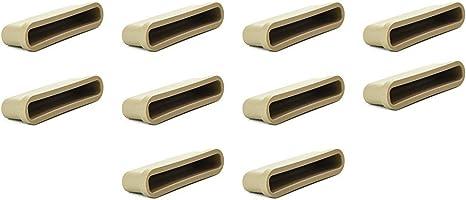 Ranuras de 63 mm, para las tablas del somier de una cama, para marcos de metal, paquete de 10