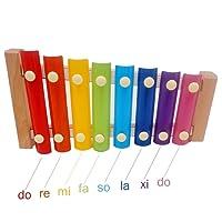 Z ZHIZU Tirare il giocattolo Xilofono Legno Bambini Gioco di Legno Strumento Giocattoli Musicali Auto Camion Giocattolo Legno per Bambini (xilofono)