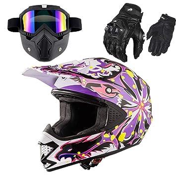 Casco Motocicleta Lleno-Cubierto Doble-Lente Que Funciona Casco De Motocross del Casco,
